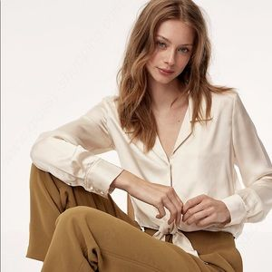 2327e6a62fdaa5 Wilfred Peaufiner Blouse, tie-front cropped, XS
